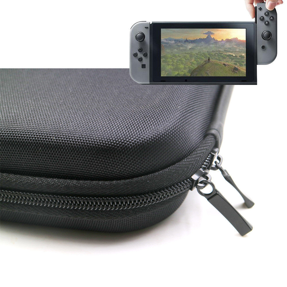 Althemax® Carrying Case Protective, hard, portable carrying case Multi bag for games Orange interior for Nintendo Switch Gray