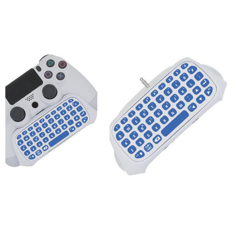 PS4 PlayStation 4 Controller Wireless Bluetooth Keyboard Chatpad GamePad DOBE White