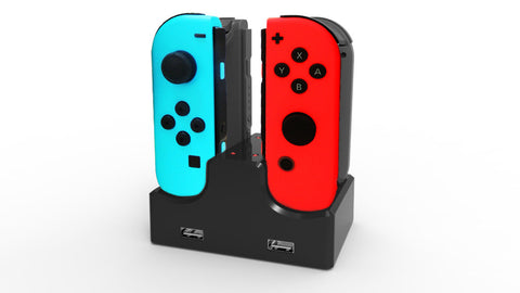 4 in 1 Charge Dock Stand with LED Indicator for Nintendo Switch Joy-Con J-Con