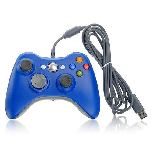 Wired Xbox 360 USB Game Pad Joysticks Controller For xBox 360 or PC Blue - XBox 360 Accessories - Althemax - 1