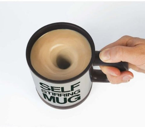 Lazy Auto Self Stir Stirring Mixing Tea Coffee Cup Mug Work Office - Black - Gift - Althemax - 1