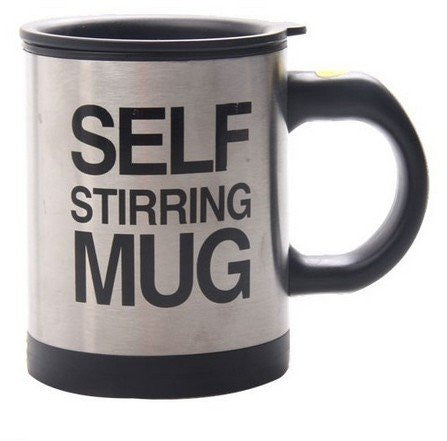 Lazy Auto Self Stir Stirring Mixing Tea Coffee Cup Mug Work Office - Black - Gift - Althemax - 2