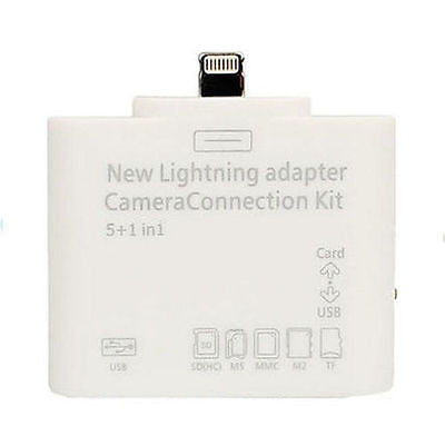 IOS 9.1 5in1 Card Reader Combo Lightning to USB SD Card MicroSD Camera Adapter for iPad Mini Air - Tablet Computer Accessories - Althemax - 1