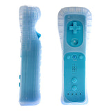 Classic Remote + Nunchuck Controller + Silicone Case for Wii / Wii Mini Multi Color - Blue - Wii Accessories - Althemax - 2