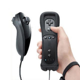 Classic Remote + Nunchuck Controller + Silicone Case for Wii / Wii Mini Multi Color - Black - Wii Accessories - Althemax - 1