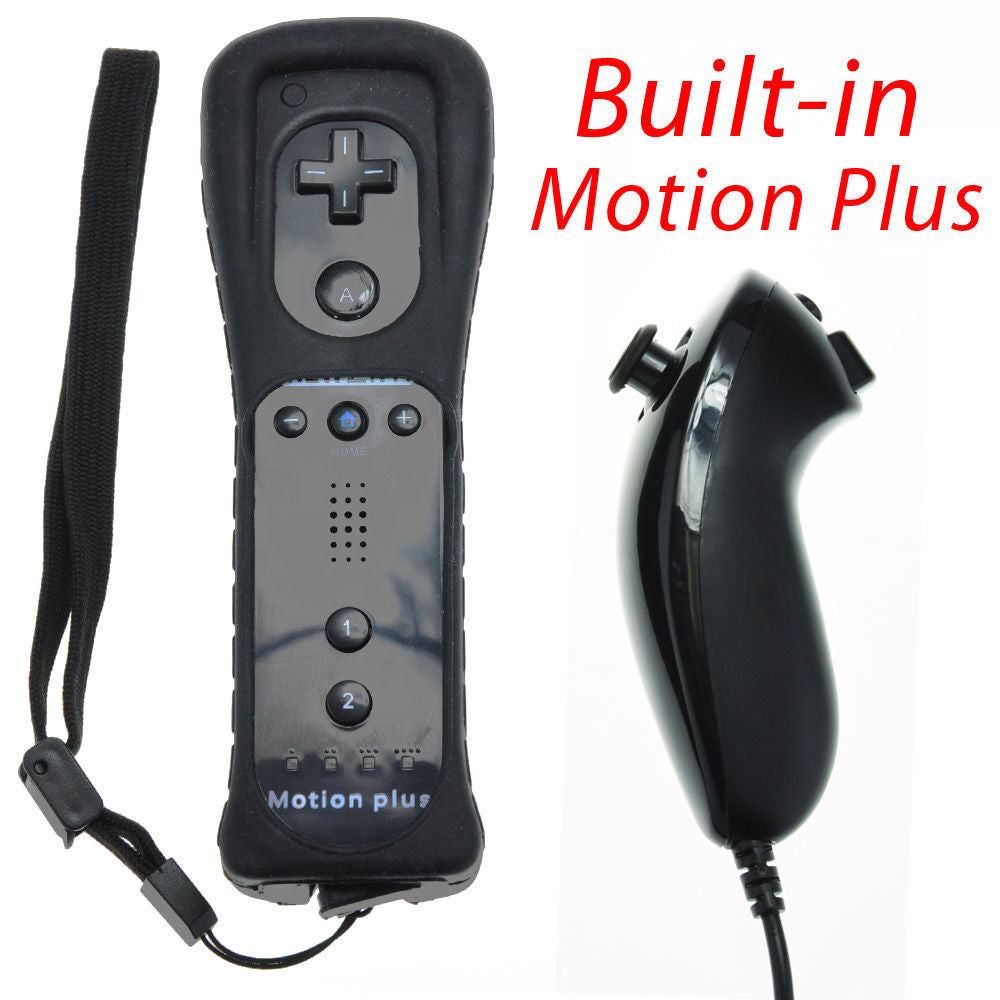 Remote Plus Built-In Motion Plus Nunchuk Silicone Case for Wii - Black - Wii Accessories - Althemax - 1
