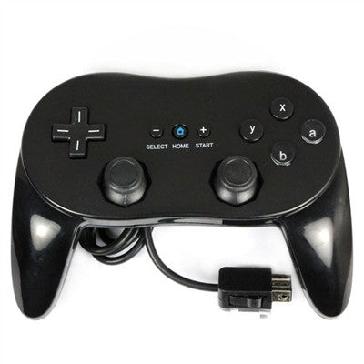 Classic Pro Game Joysticks Controller Remote for Nintendo Wii Multi Color - Black - Wii Accessories - Althemax - 1