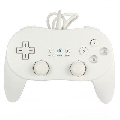 Classic Pro Game Joysticks Controller Remote for Nintendo Wii Multi Color Black White - White - Wii Accessories - Althemax - 1