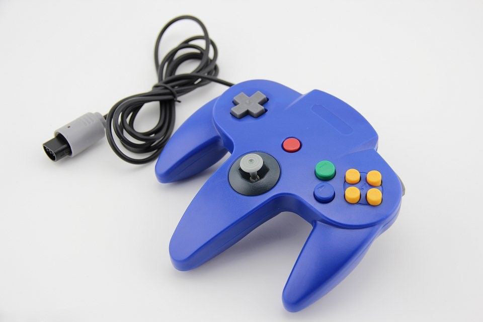 N64 Blue Long Handle Game Controller Control Remote Pad Joystick Fit for Nintendo 64 System - Game Controller - Althemax - 1