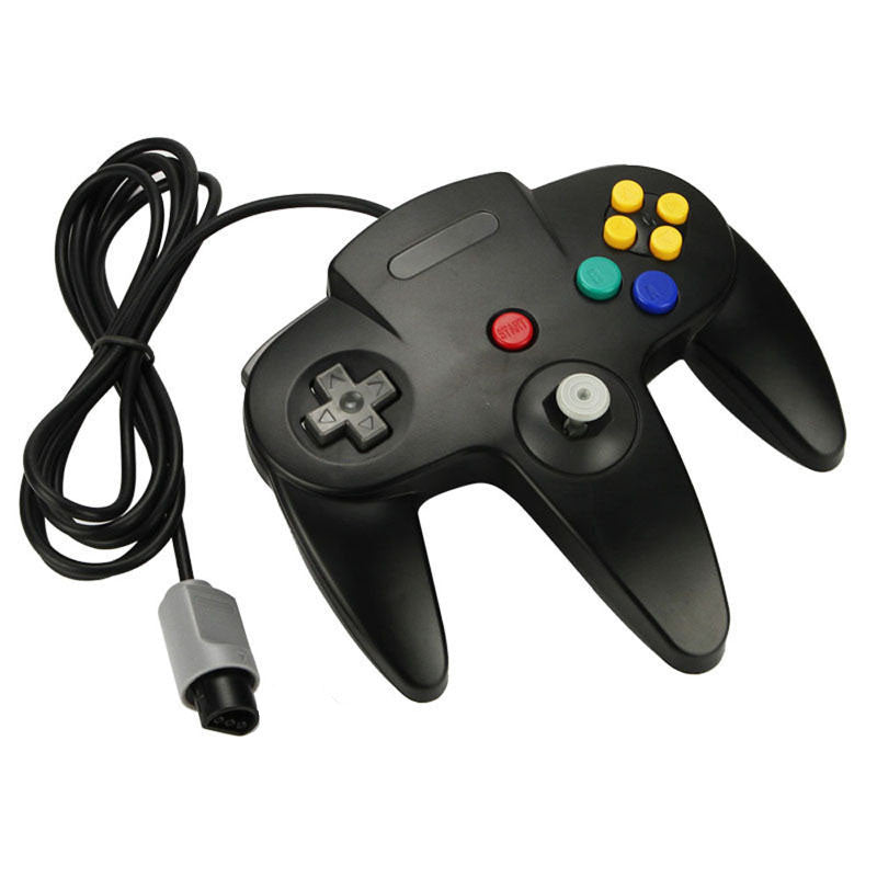N64 Black Long Handle Game Controller Control Remote Pad Joystick Fit for Nintendo 64 System - Game Controller - Althemax - 1