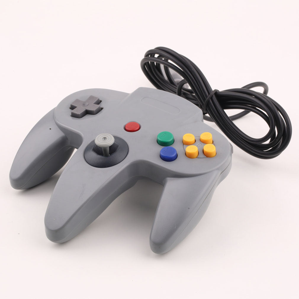N64 Gray Long Handle Game Controller Control Remote Pad Joystick Fit for Nintendo 64 System - Game Controller - Althemax - 2