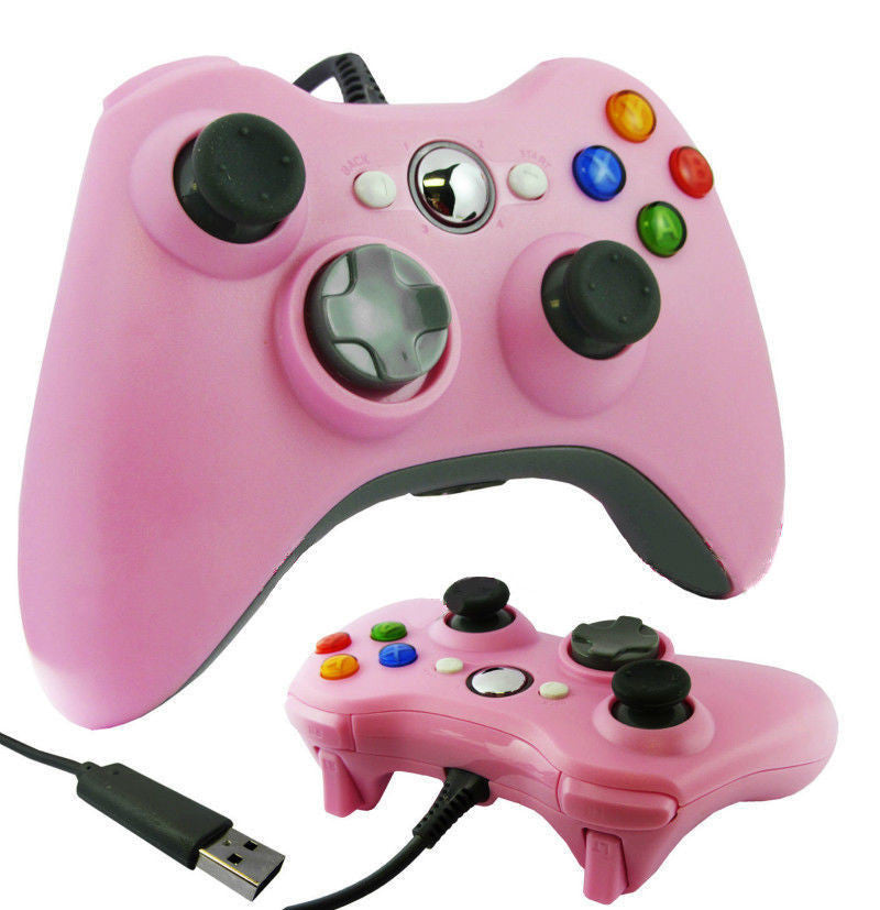 Wired Xbox 360 USB Game Pad Joysticks Controller For xBox 360 or PC Pink - XBox 360 Accessories - Althemax - 1
