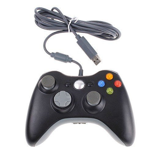 Wired Xbox 360 USB Game Pad Joysticks Controller For xBox 360 or PC Black - XBox 360 Accessories - Althemax - 1