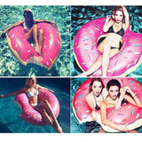 Althemax® Inflatable Giant Donut Pool Beach Float 120cm 4ft Swimming Stawberry Pink / Chocolate - Floating Bed - Althemax - 4