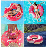 Althemax® Inflatable Giant Donut Pool Beach Float 120cm 4ft Swimming Stawberry Pink / Chocolate - Floating Bed - Althemax - 3