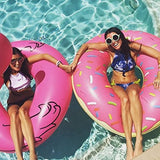 Althemax® Inflatable Giant Donut Pool Beach Float 120cm 4ft Swimming Stawberry Pink / Chocolate - Floating Bed - Althemax - 5