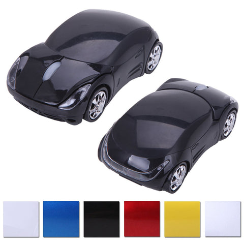 Wireless Cordless 2.4G DPI Race Auto LED Optical Car USB PC Mouse Mice for desktop laptop Black - Mice & Trackballs - Althemax - 1