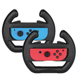 Black 2 x Race Car Controller Remote dock steering Wheel Accessory Joy-Con For Nintendo Switch Mario Cart