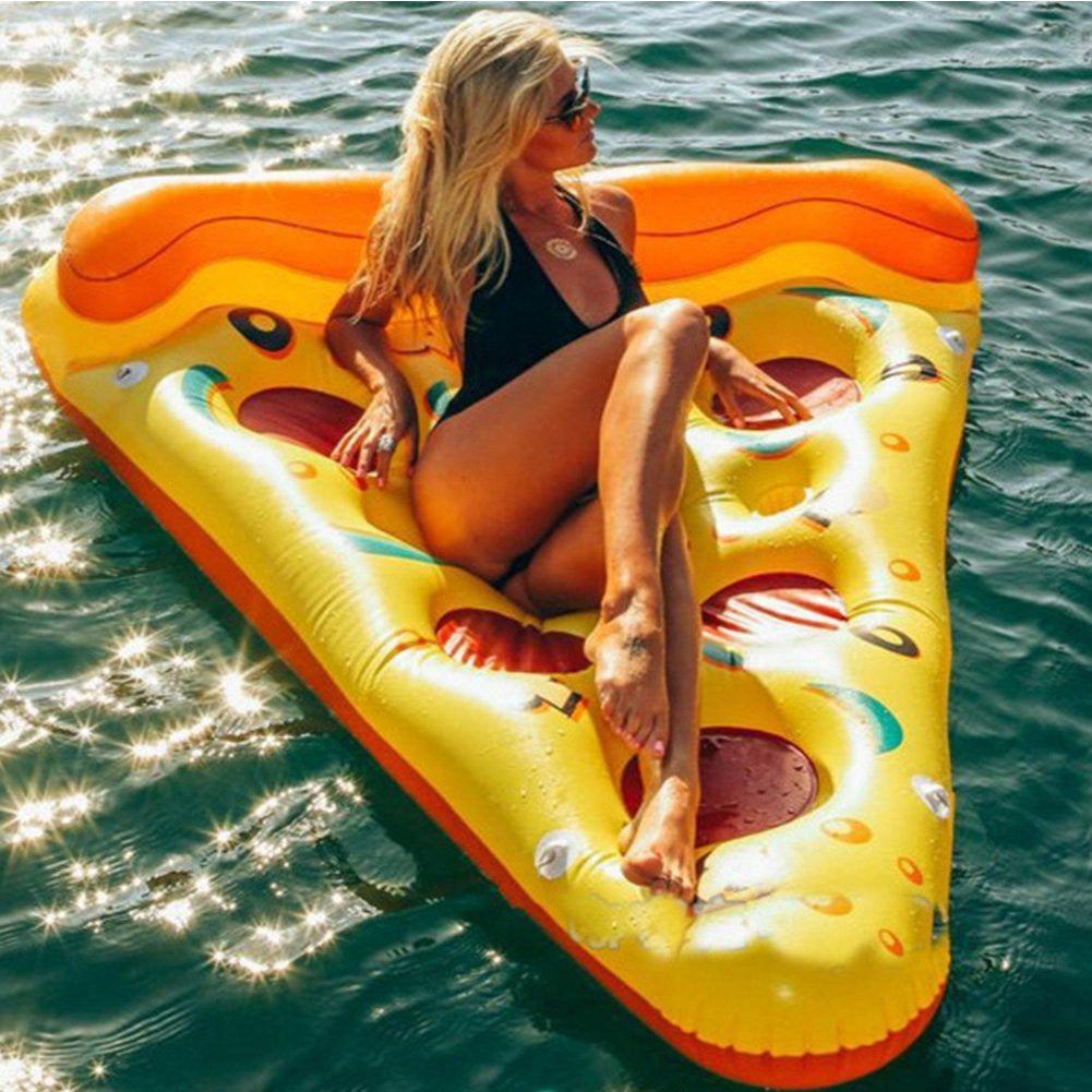 Althemax® Inflatable Pizza Slice Floating Rafts Bed For Swimming Pool Beach Toys Pizza / Pineapple - Floating Bed - Althemax - 1
