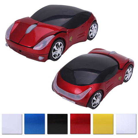 Wireless Cordless 2.4G DPI Race Auto LED Optical Car USB PC Mouse Mice for desktop laptop Red - Mice & Trackballs - Althemax - 1