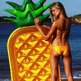 Althemax® Inflatable Pizza Slice Floating Rafts Bed For Swimming Pool Beach Toys Pizza / Pineapple - Floating Bed - Althemax - 8
