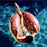 Althemax® Inflatable Giant Donut Pool Beach Float 120cm 4ft Swimming Stawberry Pink / Chocolate - Floating Bed - Althemax - 9