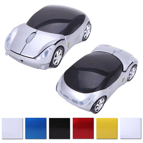 Wireless Cordless 2.4G DPI Race Auto LED Optical Car USB PC Mouse Mice for desktop laptop Silver - Mice & Trackballs - Althemax - 1