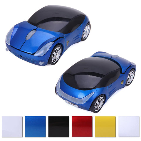 Wireless Cordless 2.4G DPI Race Auto LED Optical Car USB PC Mouse Mice for desktop laptop Blue - Mice & Trackballs - Althemax - 1