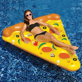 Althemax® Inflatable Pizza Slice Floating Rafts Bed For Swimming Pool Beach Toys Pizza / Pineapple - Floating Bed - Althemax - 2
