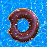 Althemax® Inflatable Giant Donut Pool Beach Float 120cm 4ft Swimming Stawberry Pink / Chocolate - Floating Bed - Althemax - 11