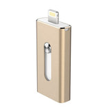 New 16GB Gold USB i-Flash Drive U Disk 8 pin Memory Stick Adapter For iPhone 5S 6S plus iPad - Cellphone Accessory - Althemax - 2