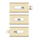New 16GB Gold USB i-Flash Drive U Disk 8 pin Memory Stick Adapter For iPhone 5S 6S plus iPad - Cellphone Accessory - Althemax - 3