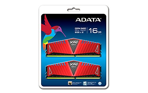 Pack of 2 ADATA XPG Z1 8 GB x 2 DDR4 2400 MHz CL16 Memory Modules Total 16GB - Red (2400MHZ / 3000 Mhz)