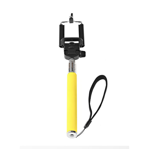 Camera Monopod Selfie Stick 1M for cellphone Apple iphone Multi Colors - Yellow - Selfie Stick - Althemax - 1