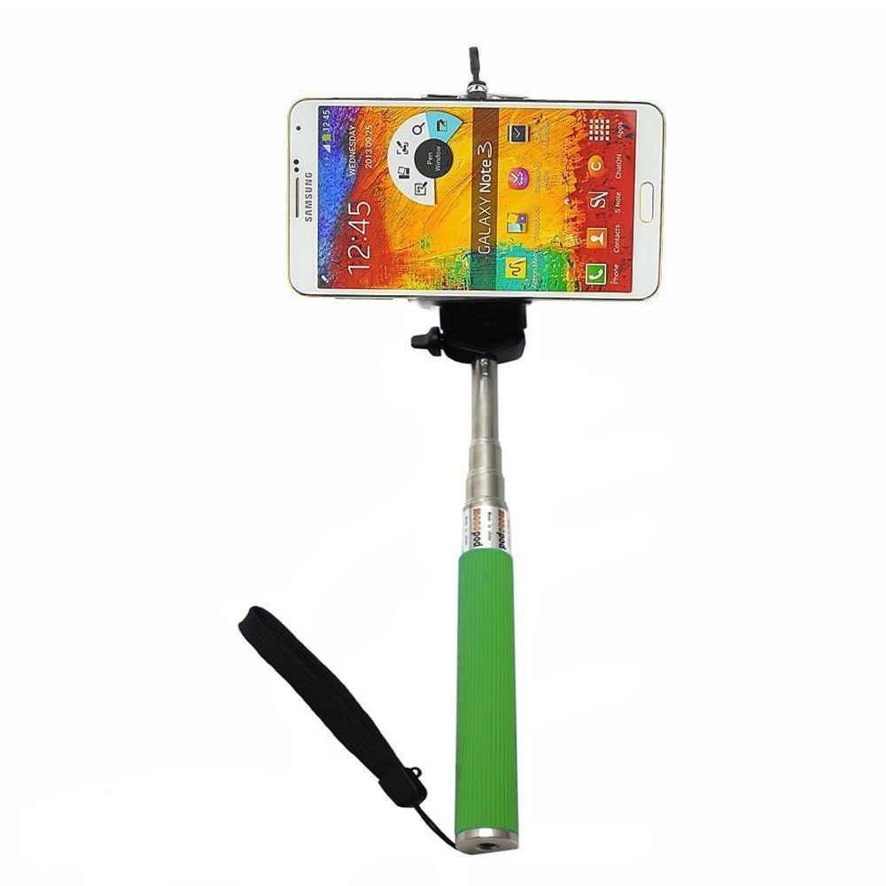Camera Monopod Selfie Stick 1M for cellphone Apple iphone Multi Colors - Green - Selfie Stick - Althemax - 1