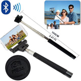 Built in Bluetooth Extendable Selfie Stick Monopod Holder Multi Available - Black - Tripods & Monopods - Althemax - 3