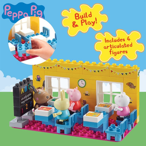 Peppa Pig Construction - School House Classroom Brick Set