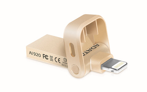 ADATA 32GB Rose Gold USB 3.1 High Speed Apple MFi certified Flash Drive Storage Water and dust resistance AI920