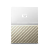 "Western Digital My Passport Ultra 2.5"" External Backup Hard Drive USB 3.0 1TB / 2TB / 4TB (4TB White & Gold)"