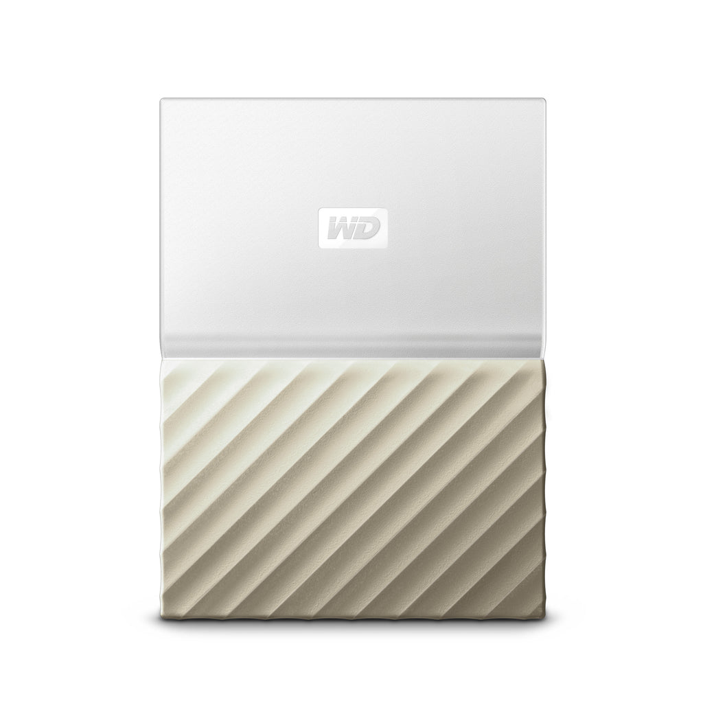 "Western Digital My Passport Ultra 2.5"" External Backup Hard Drive USB 3.0 1TB / 2TB / 4TB (2TB White & Gold)"