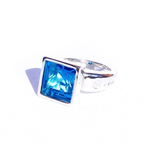 Allure Princess Cut Swiss Blue Topaz
