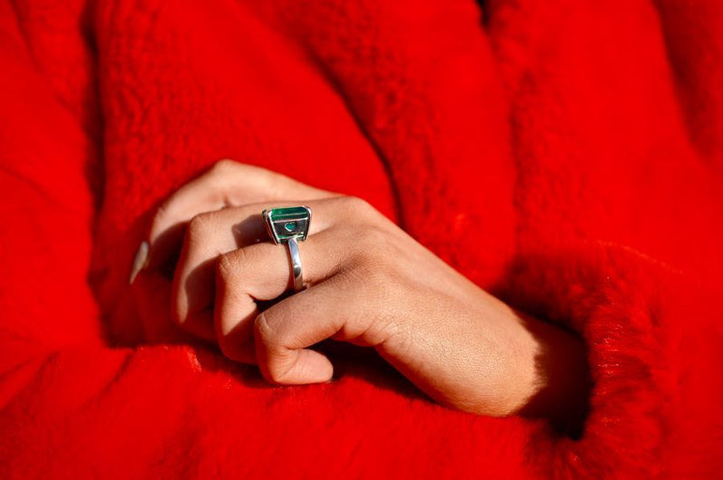 Allure Emerald Queen of Hearts Ring
