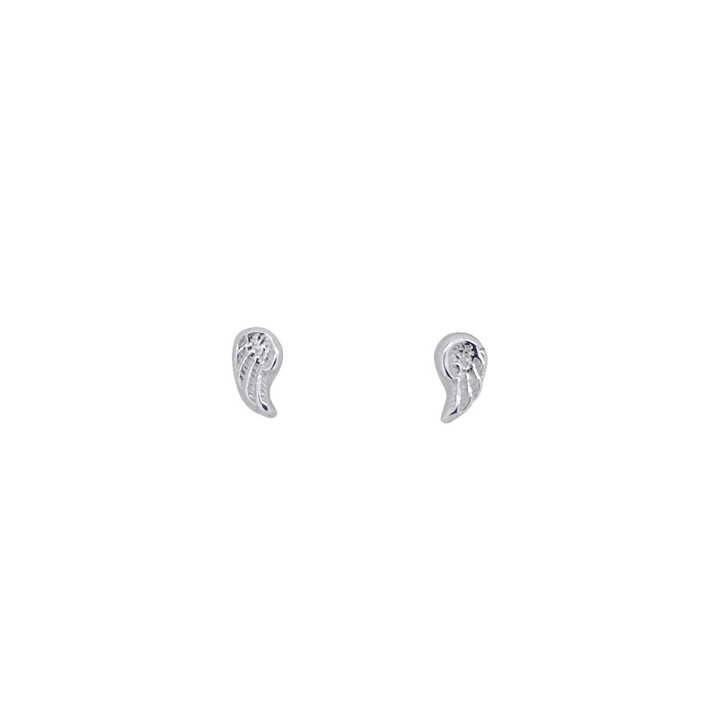 Tiny Angel Wing Studs