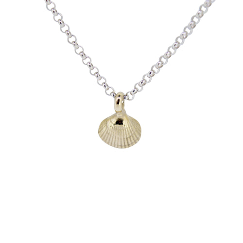 Gold Baby Shell X Silver Necklace