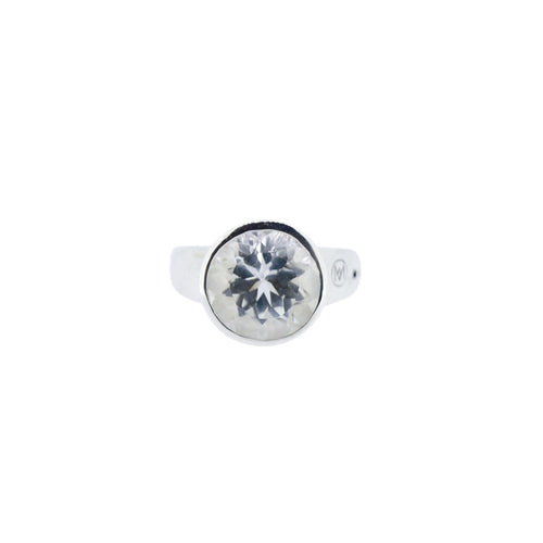Allure Round White Topaz Ring