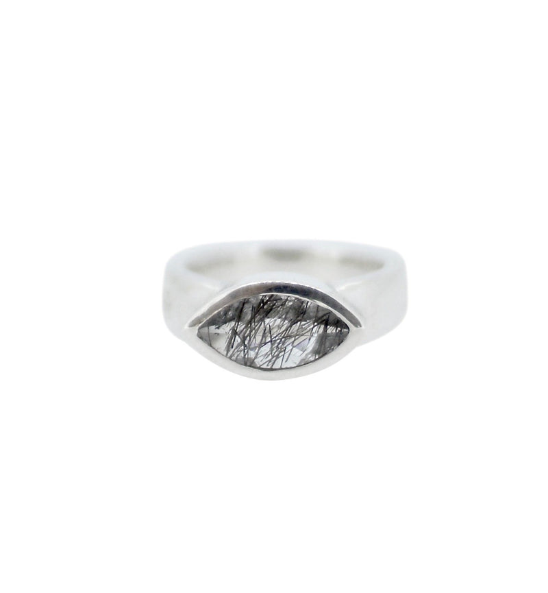 Allure Tourmalated Quartz Eye Ring