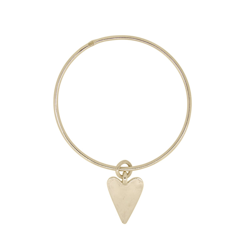 Gold Flat Heart Bangle
