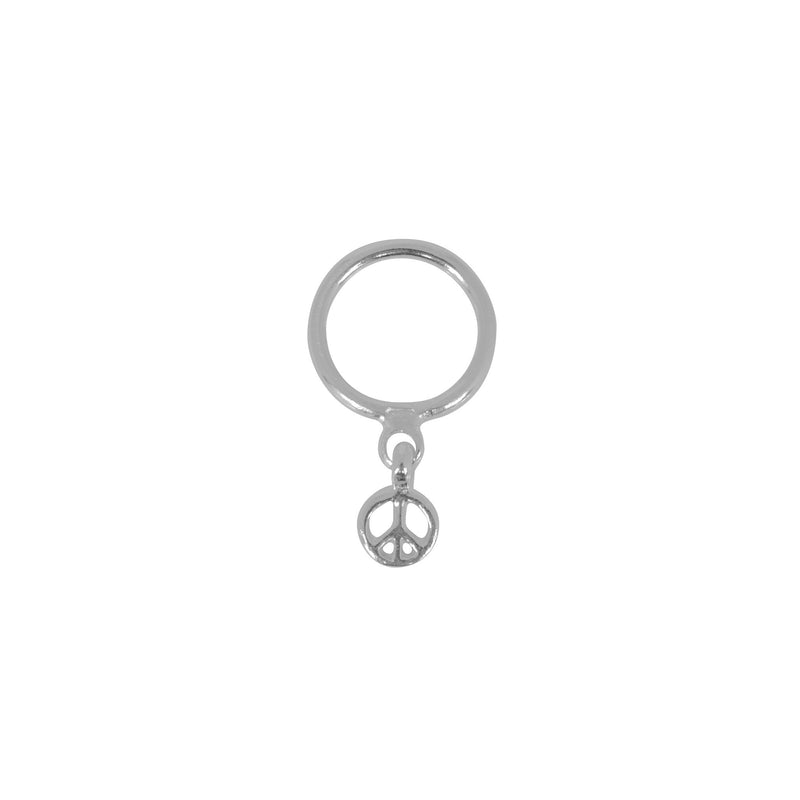 Tiny Peace Dangle Stacker