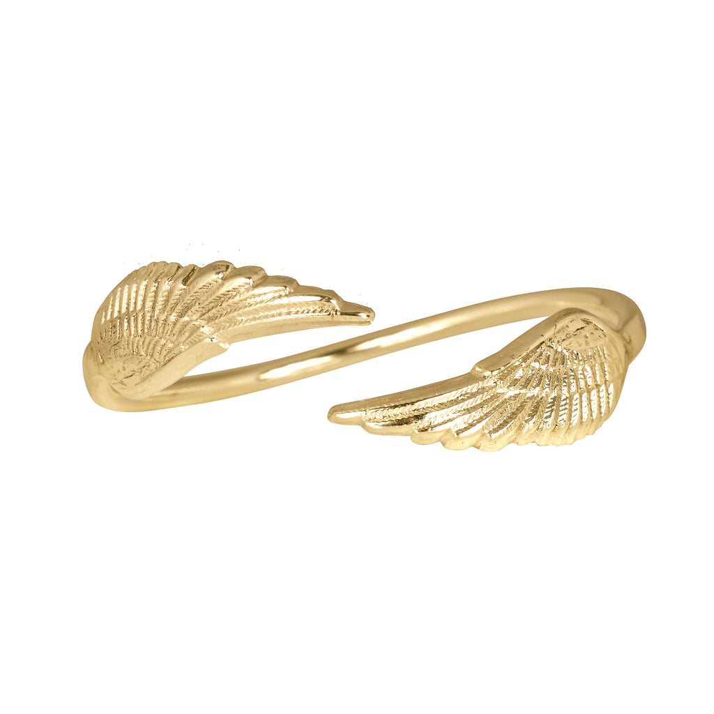 Gold Angel Wing Cuff