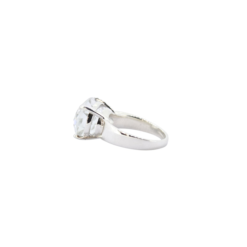 Allure White Topaz Oval Claw Ring